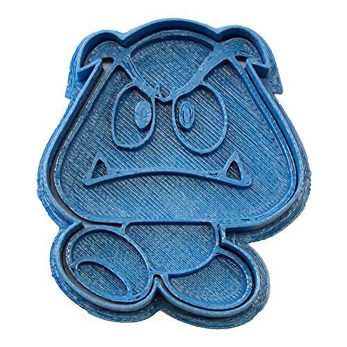 Cuticuter Goompa Mario Bros Cortador de Galletas, Azul, 8x7x1.5 cm