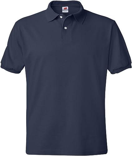 Hanes Adult ComfortBlend Ecointelligent Jersey Polo Shirt, NVY, XX-grand