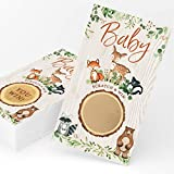 Woodland Forest Animals Baby Shower Game (Scratch Off Game)