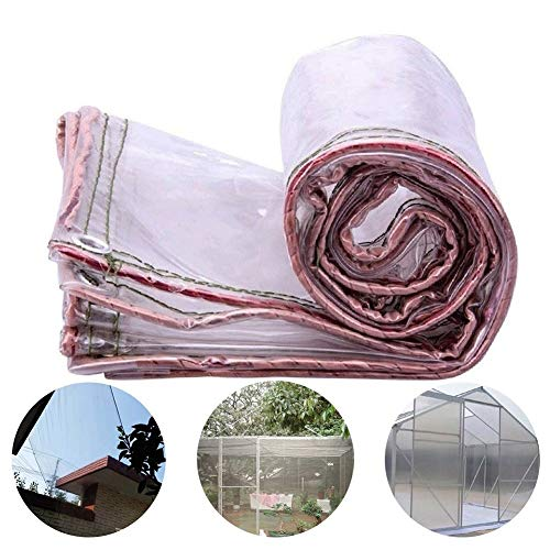 GYYARSX-Plant Covers Glass Clear Tarpaulin Waterproof Heavy Duty PVC Transparent Thicken Outdoor Rain Cloth Balcony Windproof Cold Protection Insulation Cloth, 21 Sizes,customizable