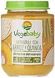 VegeBaby - Potito de fruta para bebé (Verdura, Arroz y Quínoa) 8 x 190 g