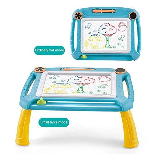 Volwco Magnetisches Zeichenbrett, 4 Farbe Bereich Magna Doodle Scribble Board Mit 4 Abnehmbaren Beinen Und 2 Briefmarken, Löschbar Bunt Skizzenblock Für Kinder Kleinkinder