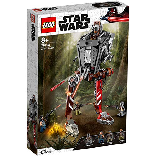 LEGO 75254 Star Wars AT-ST Raider Vehicle Set with Firing Shooters and 4 Minifigures, TV Series The Mandalorian Collection
