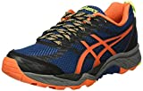 ASICS Gel-Fujitrabuco 5, Zapatillas de Running para Hombre, Azul (Poseidon/Flame Orange/Safety Yellow), 40 EU