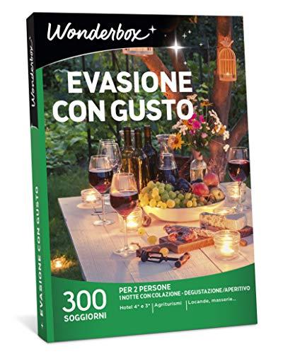 Wonderbox Cofanetto Regalo - EVASIONE con Gusto - 300 SOGGIORNI per 2 Persone