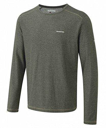 NosiLife T-Shirt à Manches Longues pour Homme Vert Cedar Marl Small