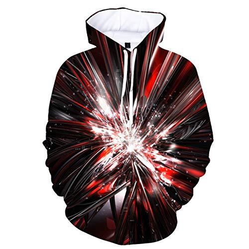 Sudadera con capucha unisex 3D con capucha y bolsillo canguro.