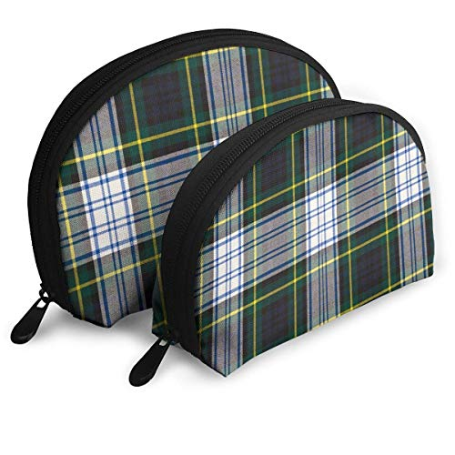 Scottish Plaid Pouch Zipper Toiletry Organizer Travel Makeup Clutch Bag Portable Bags Clutch Pouch Storage Bags