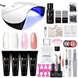 Kit Poly UV Gel Extension Construction Gel Manucure 36W UV/LED Lampe Sèche Ongle Quick Building...