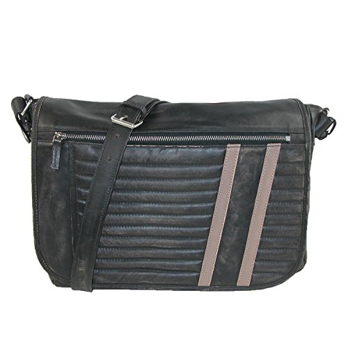 Scully Track Messenger Bag Black One Size