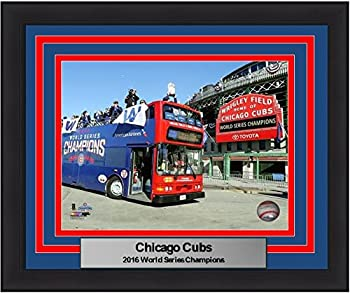 Cubs 2016 World Series Wrigley Field Championship Parade 8  x 10  Framed and Matted Baseball Photo
