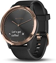 Garmin vívomove HR, Hybrid Smartwatch Men Women, Black/Rose Gold, Small/Medium (010-01850-16)