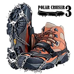 Uelfbaby 19 Spikes Crampons Ice Snow Grips