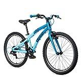 ollo Bikes Bicicleta Infantil 24 Pulgadas a Partir de 8 años, para niños y niñas, Ligera, Cambio de Marchas – Azul