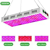 Exlenvce 2000W 1500W 1200W LED Grow Light Full Spectrum for Indoor Plants Veg and Flower,led Plant Growing Light Fixtures with Daisy Chain Function (Triple-Chips 15W LED)