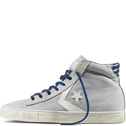 Converse 156799C Pro Leather Vulc Mid Canvas, sneaker unisex, ASH GREY/TURTLE DOVE/NAVY (37.5)