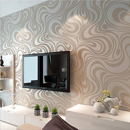Moderne abstrakte Linie dreidimensionale Tapete Wohnzimmer Wellenmuster Vliestapete Wandtapete TV Hintergrund Wand Schlafzimmer