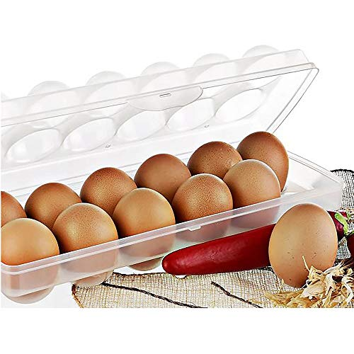 Megaprom - 12-Fach Kühlschrank Eierdose | Eierbox | Aufbewahrungsbox | Eierbehälter | Eieraufbewahrung | Transportbox | Eier Dose Box