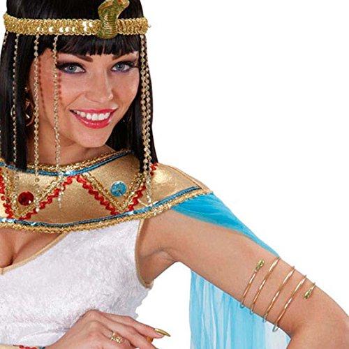 NET TOYS Schlangen Armband Cleopatra Armreif Gold Ägypten Gold Schmuck Königin Schlangenarmband Antike Göttin Goldschmuck Orient Kostüm Accessoire