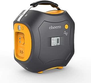 cheero Energy Carry 500Wh (139,200mAh) 大容量ポータブル電源 AC/DC/USB出力 モバイルバッテリー【PSE取得済】アウトドア/災害/緊急用 AC100V付き 正弦波 静音 LEDライト付き