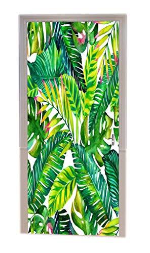 A.Monamour Pegatinas De Pared Tropical Árbol De Plátano Verde Hojas Primavera Tema Vinilo Habitación Calcomanías De La Puerta Papel Tapiz Murales De Pared Puerta Pegatinas Posters Decoraciones