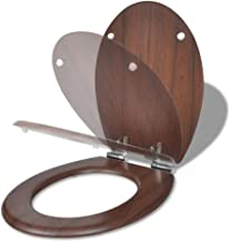 vidaXL WC-bril Soft-Close MDF Houtkleurig Toiletbril Toilet Water Closet