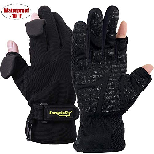 EnergeticSky Waterproof Winter Gloves,3M Thinsulate Ski & Snowboard Gloves for Men and Women,Touchscreen Gloves for Fishing,Photographing,Hunting Outdoor Activities.