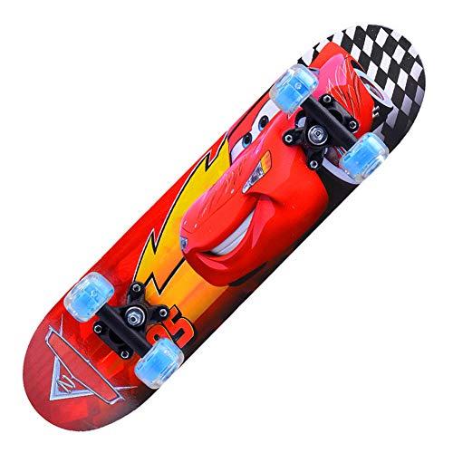 CYYMY 60cm Monopatin Skateboard con Ruedas de Luz| Skateboard 4 Ruedas | Monopatin | Skateboard con Rodamientos | Tabla Skate | Skateboard Completo |para Principiantes Niños,01