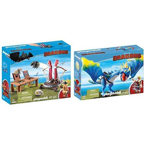PLAYMOBIL 9461 Spielzeug-Grobian mit Schafschleuder, Unisex-Kinder & 9247 - Astrid und Sturmpfeil