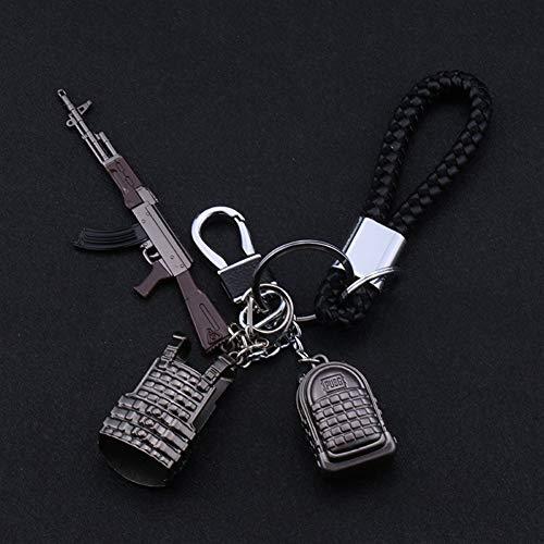 QYLOZ 3D Schlüsselbund for PUBG Schlüsselbund Pfannen Level 3 Helm Schlüsselbund Modell Schlüsselanhänger Ring Anhänger Charme Souvenir Mit Schnalle Und Seil (Color : A)
