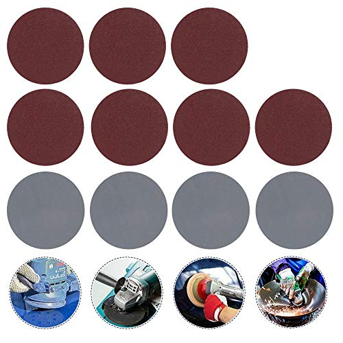 100 Pezzi Dischi Carta Abrasivi per Levigatrice di Carta Abrasivi Diametro 76 mm per Levigatrice Carta Vetrata Grana da 80/100/180/240/600/800/1000/2000/3000
