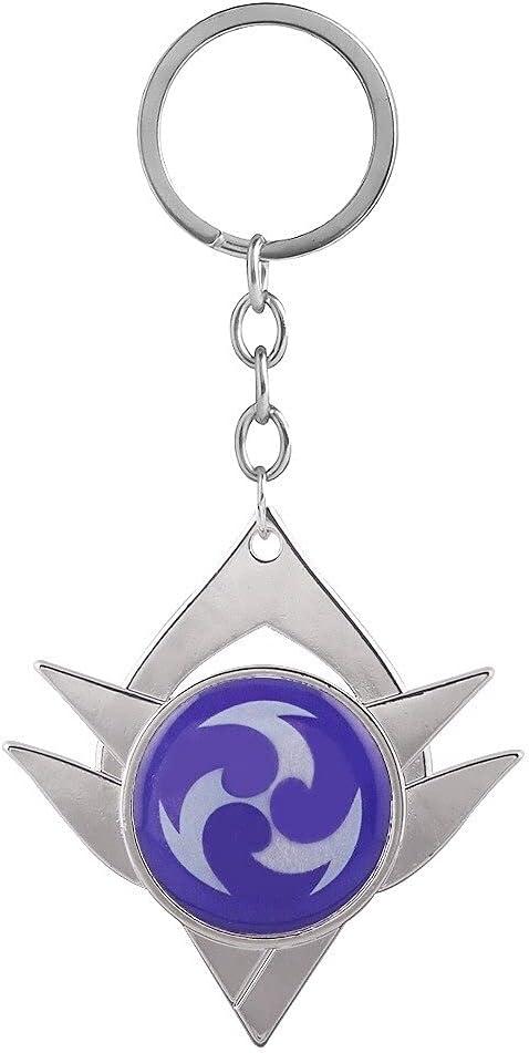 Genshin Impact Keychain Electro Metal Elements Anime Base Keyring Gift for Fans 04