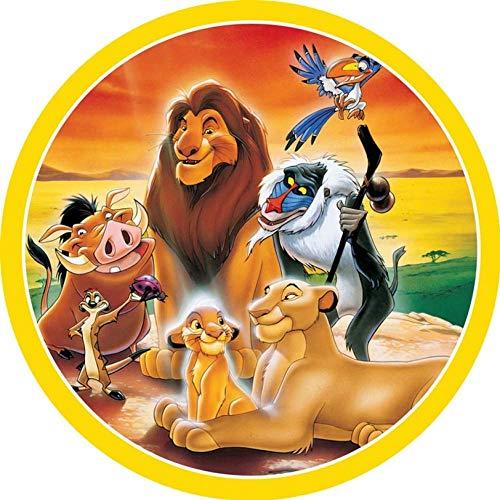 König der Löwen Runde Tortenaufleger 20CM - Geburtstag Tortenbild Zuckerbild Tortenplatte Oblate Kuchenzuckerplatte