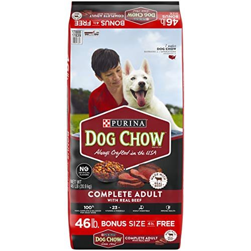 Purina Dog Chow Dry Dog Food, Complete Adult With Real Beef - 46 lb. Bag