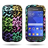 CoverON Design Graphic Image Shell Cover [Slim FIT] Hard Case for Samsung Galaxy Ace Style S765C - Colorful Leopard