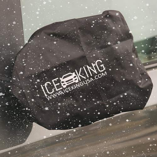 Full Set - 2 IceKing Huge Snow and Ice Mirror Covers Universal Size Fits Cars SUV Truck Van with Advanced Anti Bird Poop Technology