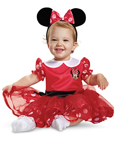 Disney Baby Minnie Mouse Infant Costume, Red
