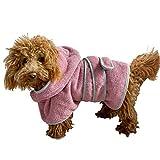 Homelevel, accappatoio per cani, in 100% cotone, per donne e uomini, ad asciugatura rapida, accappatoio per cani