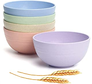 JUCOX Unbreakable Kids Bowls - Lightweight Cereal Bows Sets for Chirldren - Dishwasher&Microwave Safe Bowls Degradable BPA Free Baby Bowl Sets perfect for Soup,Dessert and Salad