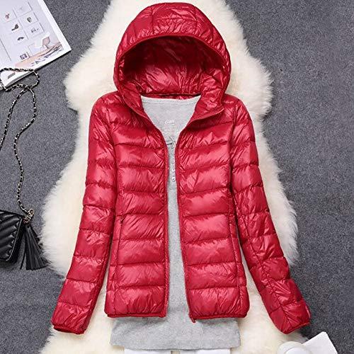 YRFHQB dames winterjas donsjas vrouwelijk slank met capuchon donsmantel draagbaar plus size ultra light donsparkas