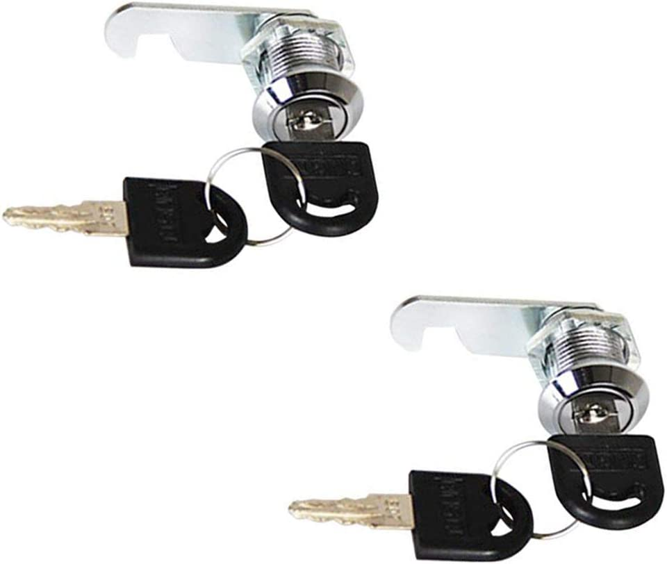 Autoly 2 Pack 20mm/0.78'' Cylinder Cam Lock Tool Box Cabinet Mailbox Thread Locker,Keyed Different