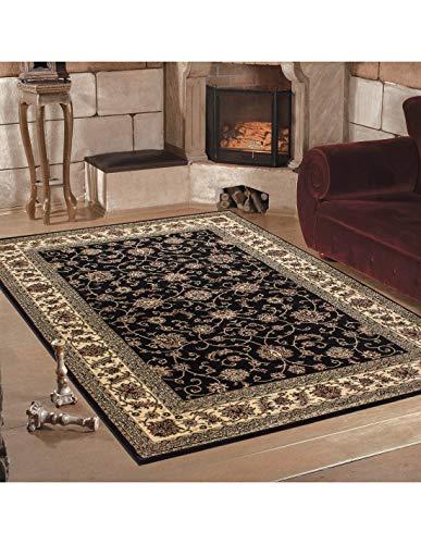 Carpet 1001 Tapis de Salon Oriental Classique Marrakech Noir - 240x340 cm