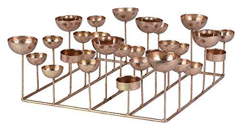 Gift Company - Kerzenhalter - Medusa - quadratisch - rosé Gold - 34,5x12x34,5 cm