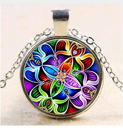 Collar de amuleto de la suerte, colgante vintage, decoración celta, j