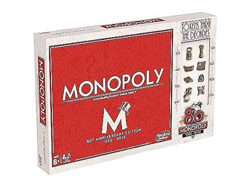 Hasbro Spiele B0622 - Monopoly 80 Jahre, russische Ausgabe
