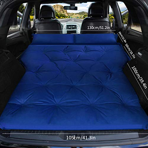 LTE Automatic inflatable bed SUV dedicated car travel bed trunk air cushion off-road vehicle car mattress car bed,Double-blue