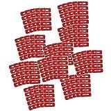 POFET 50pcs rosso monouso Peel Off nastro Nail Art prova di fuoriuscita della pelle barriera polacco protezione protezione protezione protezione