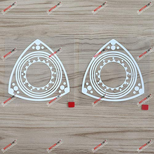 2X White 4'' Rotary Engine Wankel Engine Car Decal Sticker Fit for...