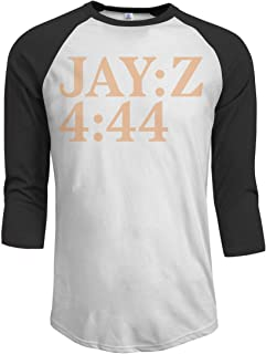 Men's Jay-Z 4 44 3/4 Sleeve Raglan Baseball T-Shirt Black