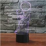 3D Illusion La gimnasta Lámpara luces de la noche ajustable 7 colores LED 3d Creative Interruptor táctil estéreo visual atmósfera mesa regalo para Navidad